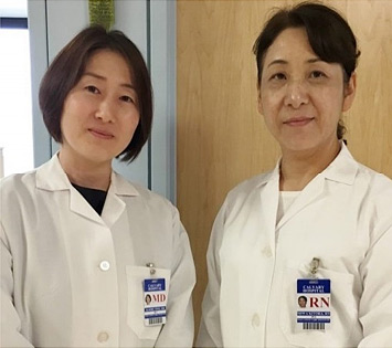Visitors from Higashi Sapporo Hospital