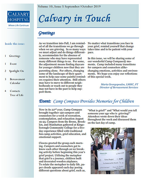 Calvary in Touch July-August 2019