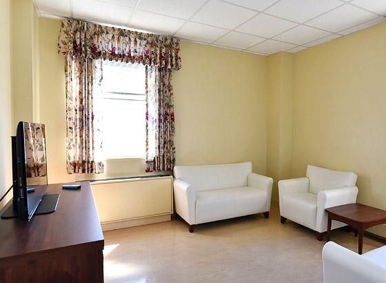 Ozanam Hall lounge