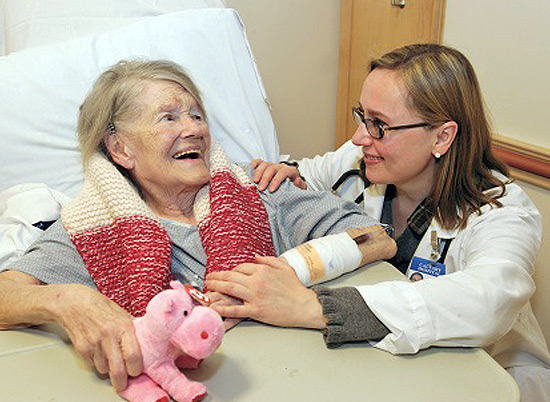 Dr. Makarevich with Edna