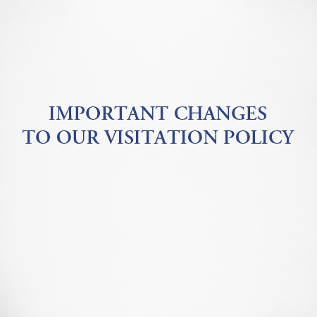 Effective October 4, 2021, new visitation guidelines